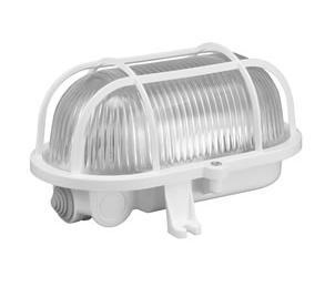 Šviestuvas IP44 100W E27 OVAL plastik. pilkas (D.3155)