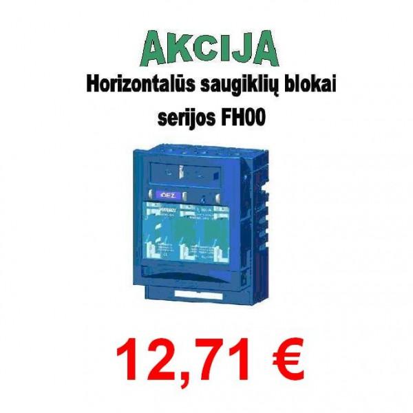 Horizontalūs saugiklių blokai serijos FH000