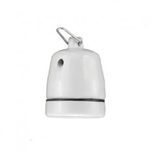 Lempų lizdas E27 keramikinis (pakabinamas) D.3008