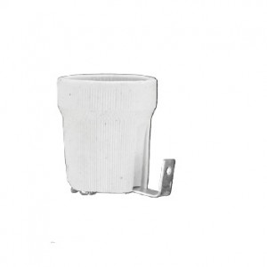 Lempų lizdas E27 keramikinis su laikikliu D.3009