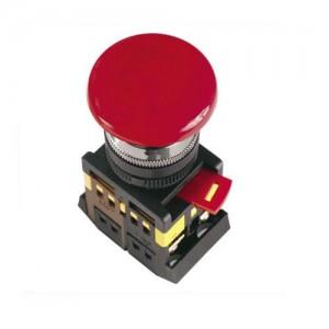 Mygtukas AEA-22 1NO+1NC 230V (raud grybas) D22