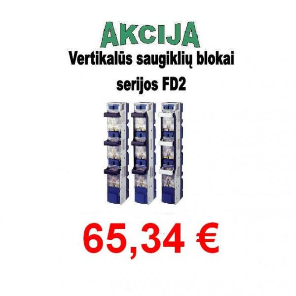 Vertikalūs saugiklių blokai serijos FD2