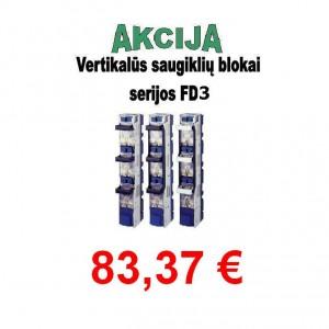 Vertikalūs saugiklių blokai serijos FD3