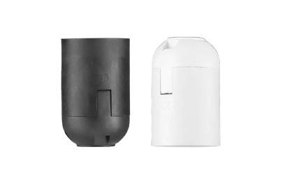 Lempų lizdas E27 plastikas juod. D.3005