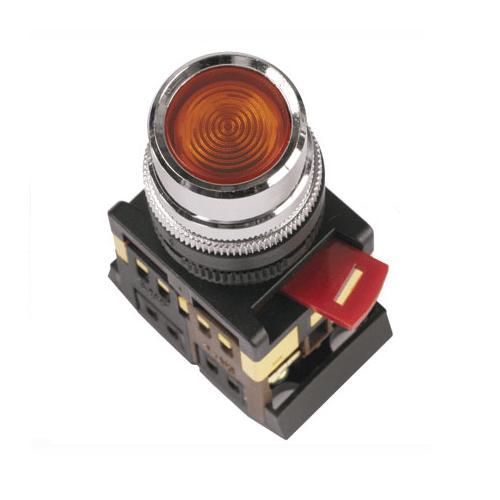 Mygtukas ABLF-22 1NO+1NC 230V (raud.) d22 PRC