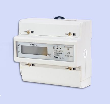 Skaitiklis BM03B-L 20(100)A LCD 3f mod. elektron. BEMKO