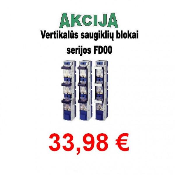 Vertikalūs saugiklių blokai serijos FD00
